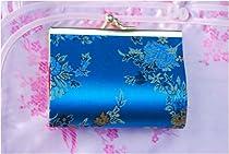 Blossom Brocade Wallet or Make-Up Cases - Blue