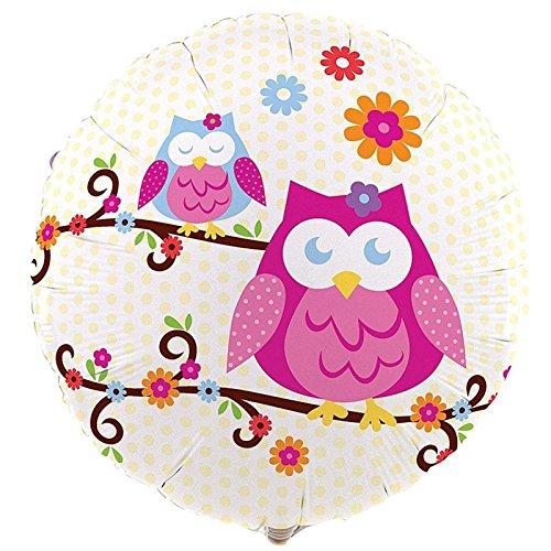 """Owl Blossom 18"""" Foil Balloon"""