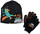 Disney Boys 2-7 Agent P Hero Beanie and Glove Set