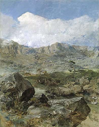 'Domingo Marques Francisco Gran Paisaje (Aragon) Ca. 1900 ' Oil Painting, 18 X 23 Inch / 46 X 58 Cm ,printed On Polyster Canvas ,this Replica Art DecorativeCanvas Prints Is Perfectly Suitalbe For Living Room Gallery Art And Home Decoration And Gifts