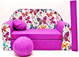Lulando Kindersofa Bettfunktion 3in1  M33