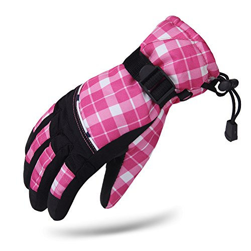 KINEED-Impermable-Filles-Hiver-Thermiques-Gants-Ski-Snowboard-Sports-Extrieur-Gants-Cyclisme-Moto-Motoneige-Rose