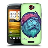 Head Case Designs Dashing Lion Fauna Hipsters Hard Back Case Cover for HTC One S