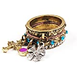 Unique Vintage Rhinestone Clover Cross Multi Decoration Cute Ring Set