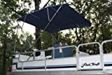 "New NAVY BLUE Pontoon / Deck Boat Vortex 4 Bow Bimini Top 8 Long, 91-96"" Wide, 54"" High, Complete Kit, Frame, Canopy, and Hardware"