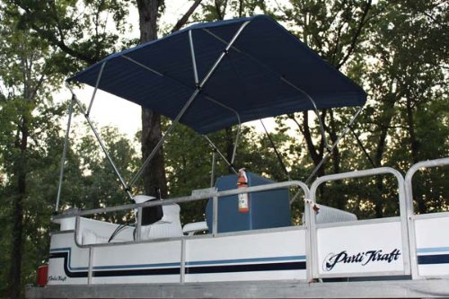 New NAVY BLUE Pontoon / Deck Boat Vortex 4 Bow