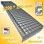 Gitterroststufe 1200 * 270 mm - Gitte...