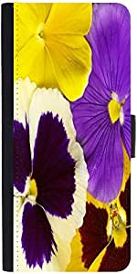 Snoogg Closeup Of Colourful Viola Tricolor Graphic Snap On Hard Back Leather ...