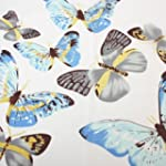 Colourful Butterfly Print White Scarf