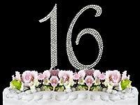 Rhinestone Cake Topper Number 16