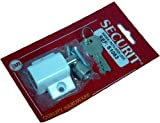 Window / Patio door lock with 2 keys and screws - White