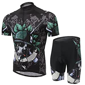 Summer Hero Men Short Sleeve Cycling Jersey Shirts Pants Coolmax Pad Iron Man Spiderman Superman Captain America Batman