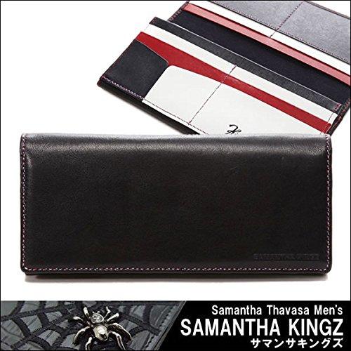 SAMANTHA KINGZ サマンサキングズ 財布 長財布 牛革ステア 二つ折り トリコロール ブラック レザー 黒 純正化粧箱 ショップバッグ付