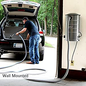 VacuMaid GV50 Wall Mounted Garage and Car Vacuum with 50 ft Hose and Tools (Color: Gunmetal)