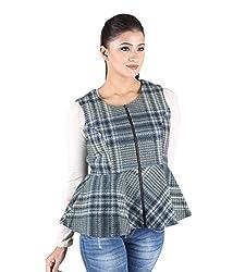 Owncraft Women's Woolen Jacket (Own_22_Pink_Small)