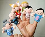 6pcs Funny Family Finger Puppets Story Set Toy Gift play f Chilren Kids Baby