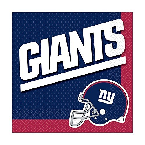 [DesignWare New York Giants NFL Luncheon Napkins] (Halloween Decorations New York)