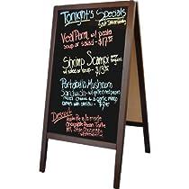 Sidewalk A-Frame Mahogany Sandwich Board Sign