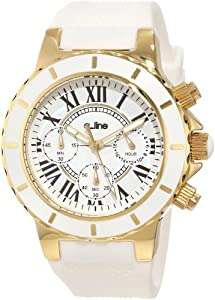 51a83c5b99d1 a line Women s 20103DV Marina Chronograph White Silicone Watch Watches