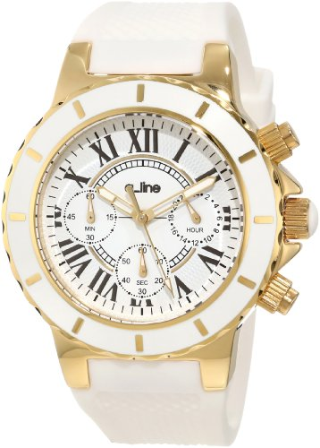 a_line Women's 20103DV Marina Chronograph White Silicone Watch