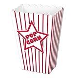 Paper Popcorn Boxes Party Accessory (1 count) (8/Pkg)