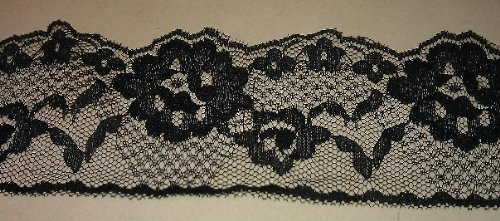 100 YARDS OF BLACK FLAT SCALLOP LACE 2 3/4 WIDE