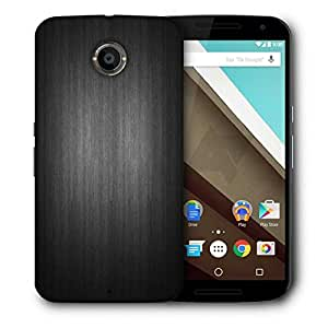 Snoogg Plain Black Printed Protective Phone Back Case Cover For LG Google Nexus 6