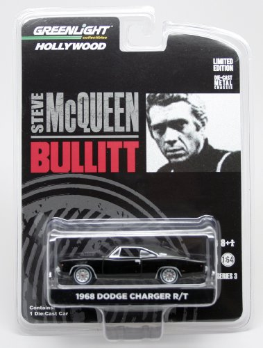 1968 DODGE CHARGER R/T from the movie BULLITT Greenlight Collectibles 1:64 Scale * Hollywood Series 3 * Die Cast Vehicle