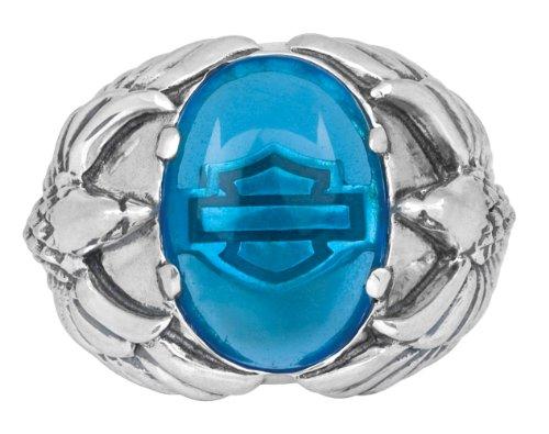 Harley-Davidson Womens .925 Silver Blue Eagle Ring (8)