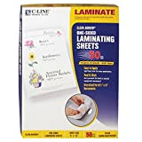 C-Line Heavyweight Cleer Adheer Laminating Film Sheets, Clear, 9 x 12 Inches, 50 per Box (65001) ~ C-Line