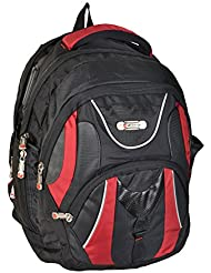 Liberty BAGS Polyester 25 Liters Black And Red School Backpack