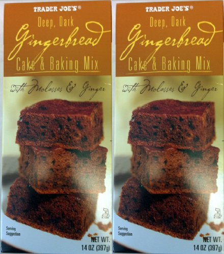 2 Pack Trader Joe's Deep Dark Gingerbread Cake & Baking Mix with Molasses & Ginger