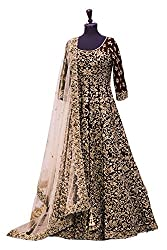 Snapyshopy Designer Brown Bridal Wedding Party Wear Embroidered Lehnga