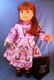 """Irish Dance Costume Complete Set in Lavender. Leather Ghillies and Dance Socks Included. Fits 18"""" Dolls like American Girl®"""
