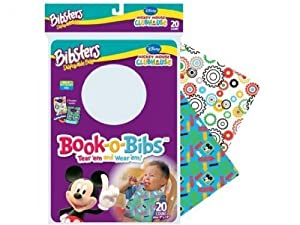 Neat Solutions 20 pack Bibsters Book-o-Bibs Disposable Bibs Minnie Mouse Bow-tique