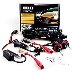 See 12V 35W H13 High / Low 5000K Slim Aluminum Ballast HID Xenon Headlights Kit Details