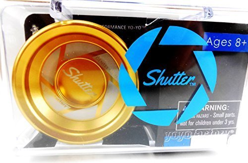 Authentic Gold Shutter Yoyo in Hard Plastic Case By Yoyofactory by YoYoFactory Shutter jetzt kaufen