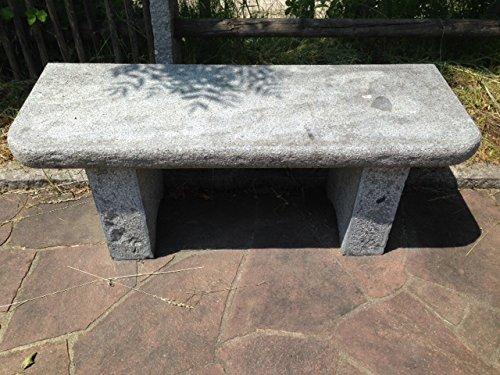 Bank aus echtem Naturstein, Bank Oberfläche geschliffen, Länge 140cm, Höhe 50cm, Bank aus Stein, handgearbeitet online bestellen