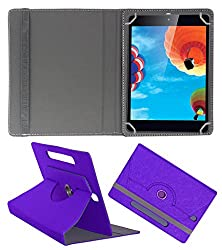 Acm Designer Rotating Case For Iball Slide O900-C Stand Cover Purple