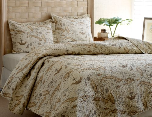 Tommy Bahama Map Quilt Set Full Queen Check Price