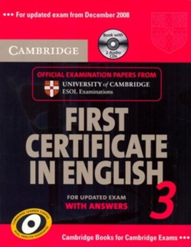 Cambridge First Certificate in English 3 for Updated Exam Self-study Pack