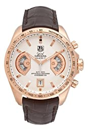 TAG Heuer Men s CAV514B FC8171 Grand Carrera Calibre 17 RS Automatic Chronograph White Dial Watch