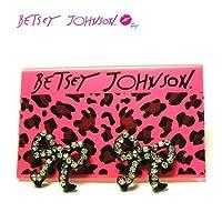 Betsey Johnson クリスタルストーン付き リボン ピアス