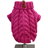 FouFou Dog Urban Knit Sweater, Fuchsia, X-Small
