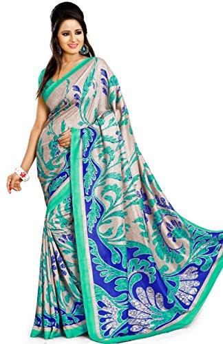 Samskruti Sarees Women's Chiffon Saree (SPAS-8588_Blue)