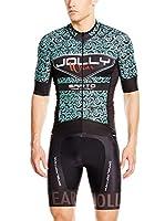 JOLLYWEAR Maillot Ciclismo Sarto (Negro / Verde)
