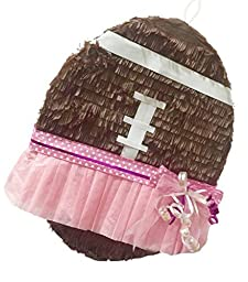 Brown Football with Tutu Traditional & Pull Strings Pinata