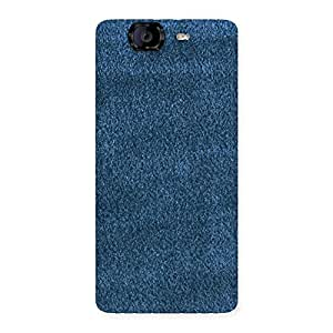 Enticing Royal Blue Cloth Print Back Case Cover for Canvas Knight A350