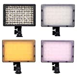 126-LED Video Light CN-126 LED Photo Video Camera Video Camcorder Flash Hot Shoe Lamp Light Lighting FOR Canon Nikon Sigma JVC Panasonic DSLR DV DC Camera CANON EOS 1100D 1000D 600D 550D 50D 40D 30D 5D Mark II