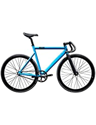 State Bicycle 6061 Black Label Fixed Gear Bike - Laguna Blue, 59 cm